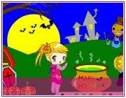 Игра для девочек Раскраска хэллоуин